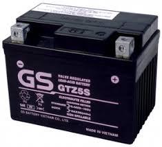 Ắc quy gs GTZ 5S dành cho xe máy tay ga.