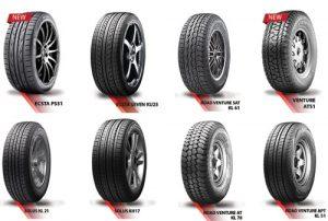Các dòng sản phẩm lốp kumho hiện nay.