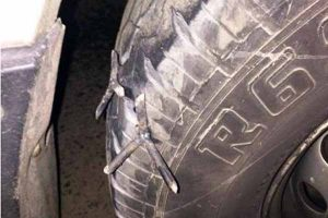 Lốp bị dính đinh hãy gọi dịch vụ làm lốp ô tô chuyên nghiệp Hương Hùng Thúy.