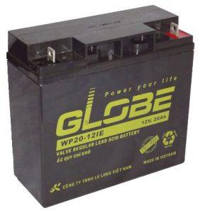 Bình ắc quy globe 12v 20ah dùng cho xe điện, loa di động, thang máy chất lượng cao.